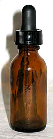 Amber Bottle Dropper 1 Oz