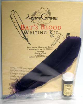 Bat's Blood Writing Spell Kit