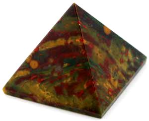Bloodstone Gemstone Pyramid