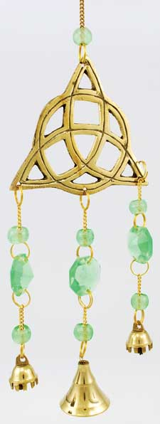 Brass Emerald Triquetra Wind Chimes
