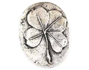 Clover Pewter Worry Stone