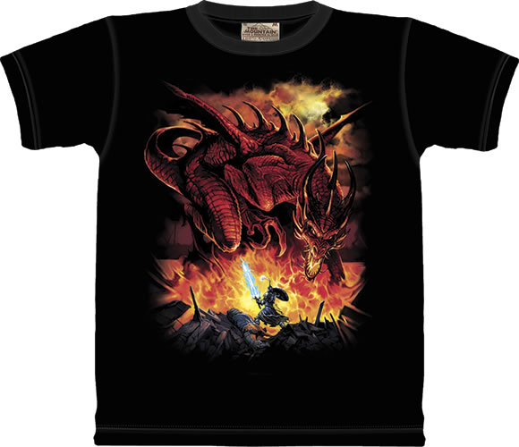 Year of the Dragon with Red flames Child Medium T shirt