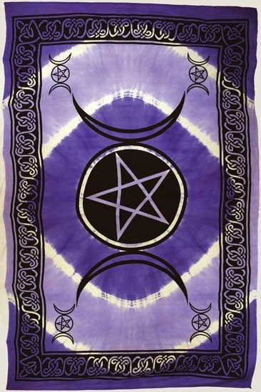 Purple Triple Moon Tapestry