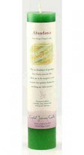Abundance Reiki Charged Pillar Candle