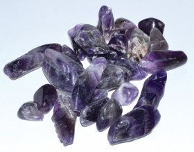 Amethyst Chevron Tumbled Chips