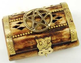 Bone Pentagram Ritual Chest