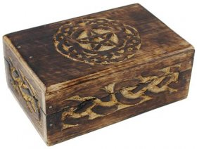 Celtic Circle Pentagram Ritual Box