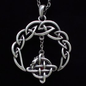 Celtic Crescent Necklace