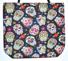 Day of the Dead Jute Hand Bag
