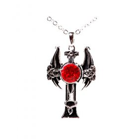 Dragon Cross Ruby Necklace