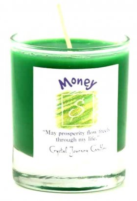 Money Soy Votive Jar Candle