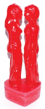 Red Male Female Candle 8 Inch
