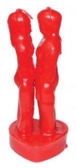 Red Male Female Candle