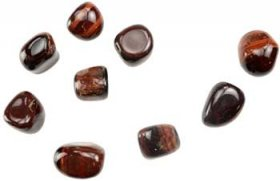 Red Tiger Eye Tumbled Stones