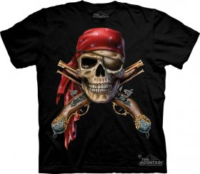 Skull & Crossed Guns T-Shirt