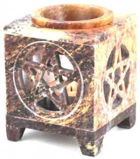 Soapstone Pentagram Oil Warmer