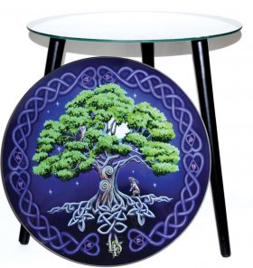 Tree of Life Glass Altar Table