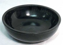 Black Stone Offering Bowl 6 Inch