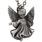 Blue Stone Angel Necklace