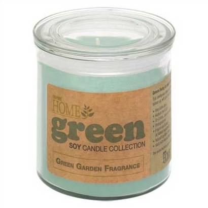 Green Garden Soy Scented Jar Candle