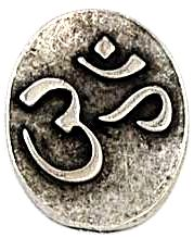 Om Pewter Worry Stone