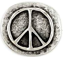 Peace Pewter Worry Stone