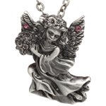 Pink Stone Angel Necklace