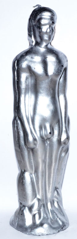 Silver Male Figure Candle