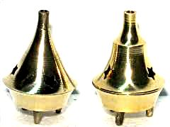 Small Brass Cone Incense Burner