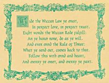Wiccan Law Poster